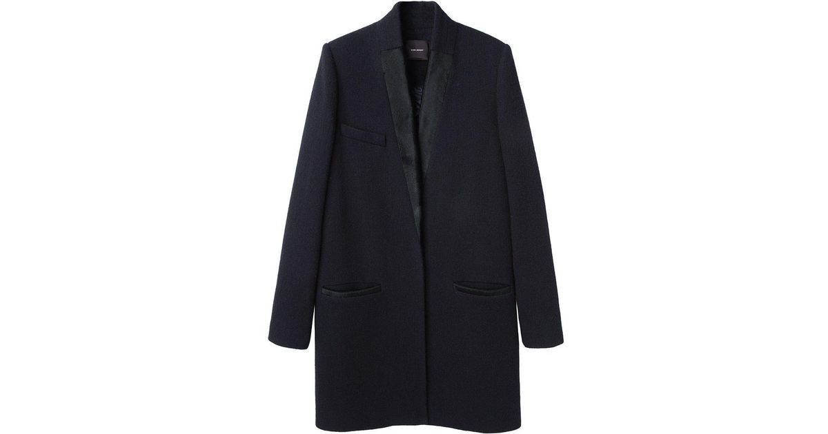 652c99a576fd0 Lyst - Isabel Marant Ego Coat in Black