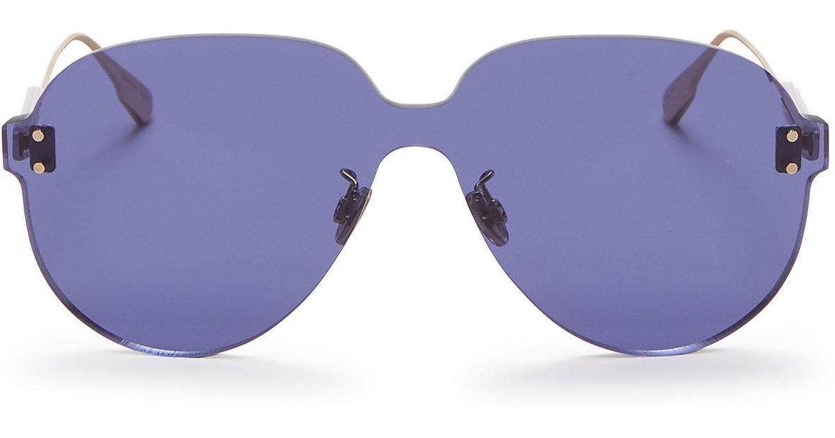 5a45ffa492a Lyst - Dior   Color Quake 3  Rimless Aviator Sunglasses in Blue - Save 7%