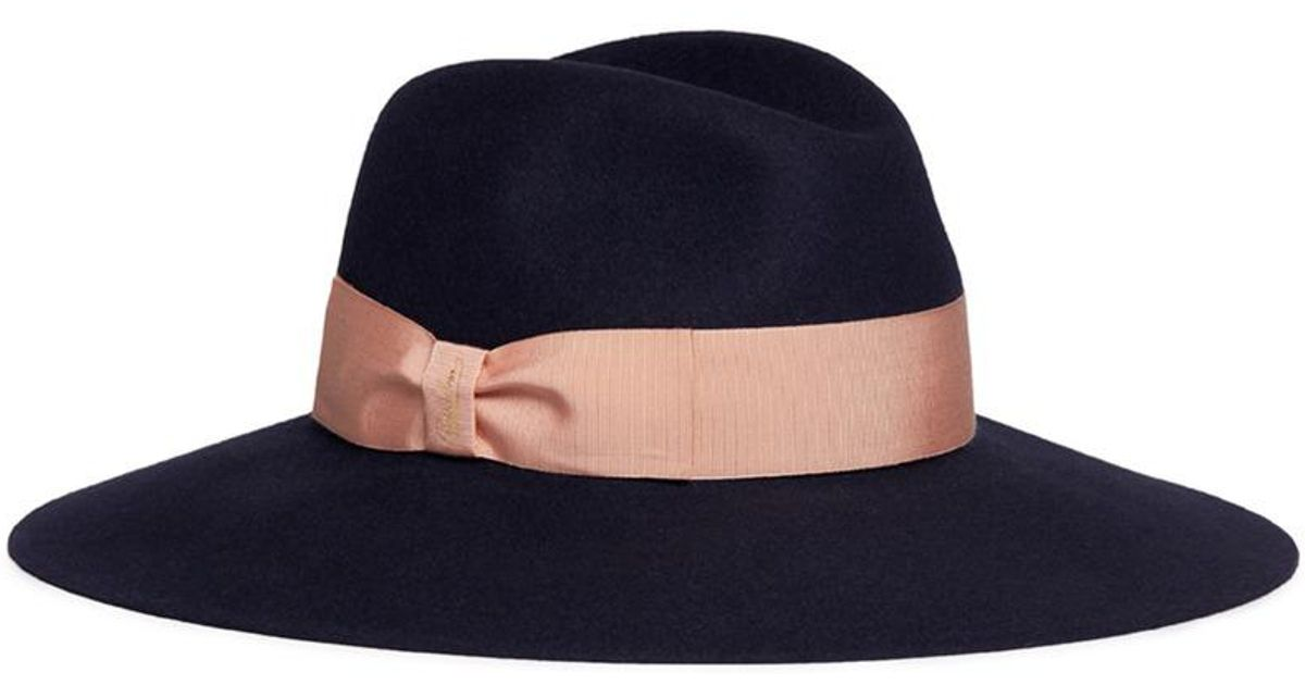 49fae48ffe0 Borsalino  alessandria  Wide Brim Rabbit Furfelt Fedora Hat in Gray - Lyst