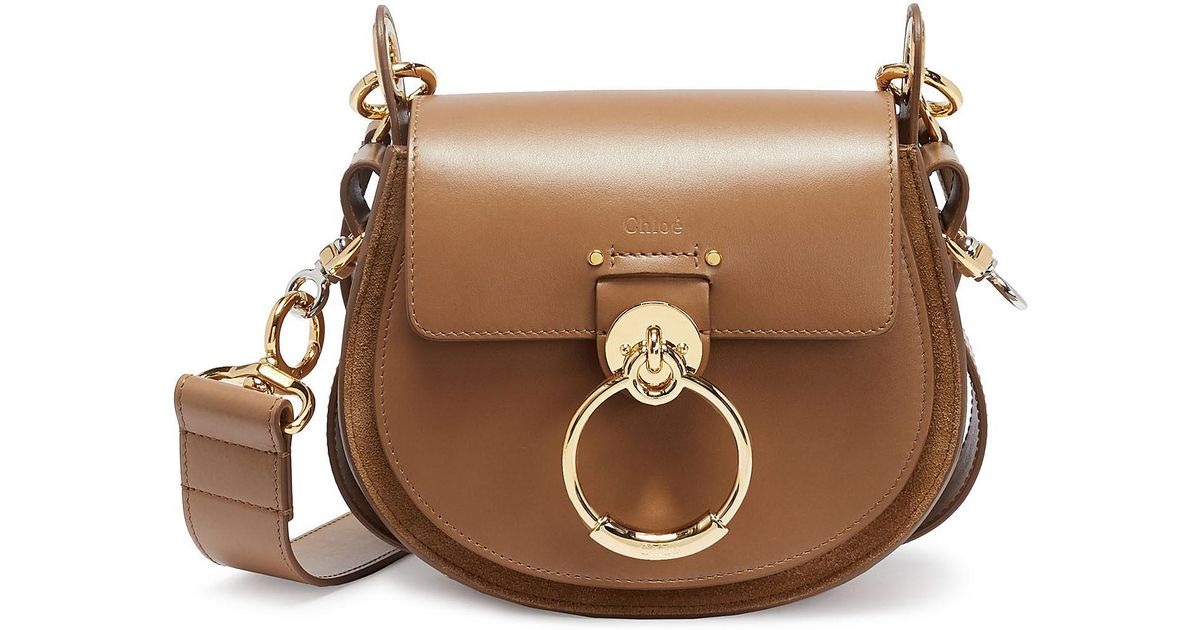 752e38160a51 Chloé  tess  Ring Small Leather Shoulder Bag in Brown - Lyst