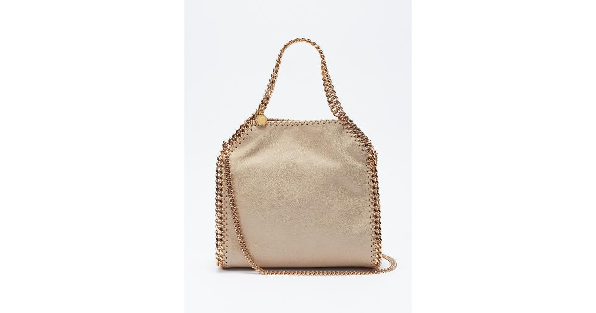 4037f2219367 Stella McCartney  falabella  Mini shaggy Deer Tote Bag in Natural - Lyst