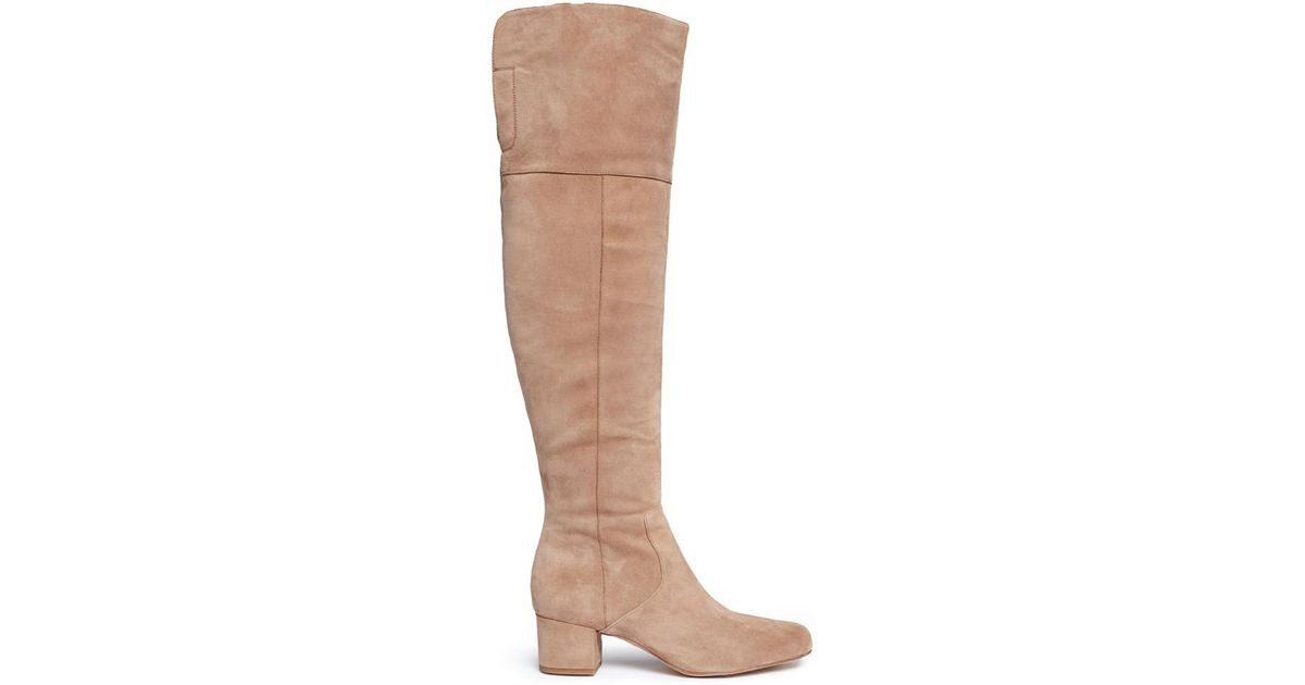 8fe44f4ffcf Lyst - Sam Edelman  elina  Suede Thigh High Boots in Brown