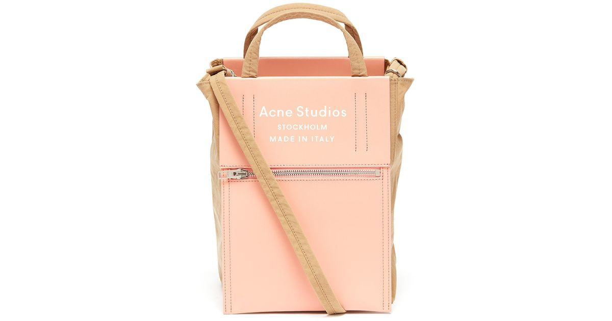Men's Pink 'baker Out' Logo Print Small Tote Bag by Acne Studios