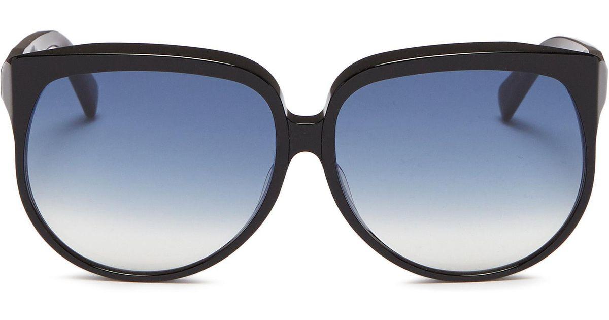 9312e80cc5 Céline Acetate Oversized Round Sunglasses in Black - Lyst