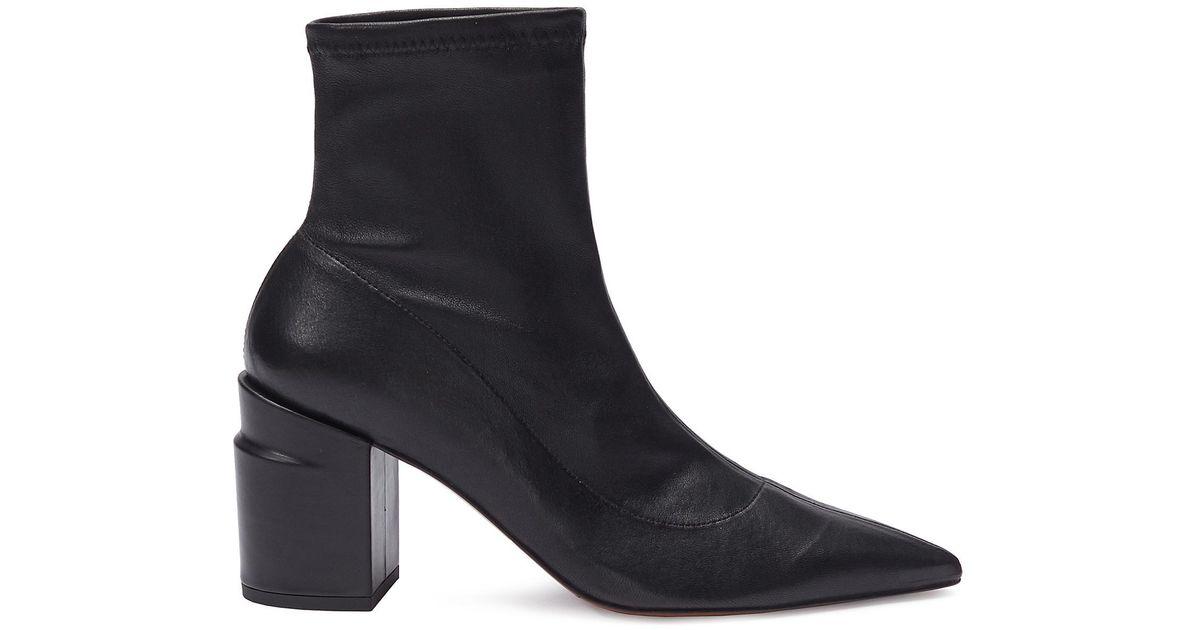 09bdf08225c Clergerie Black 'alaska' Twist Heel Leather Ankle Boots