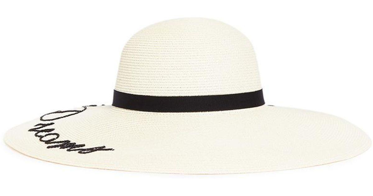 Lyst - Eugenia Kim  bunny  Slogan Straw Sun Hat in White 1710292a0ec