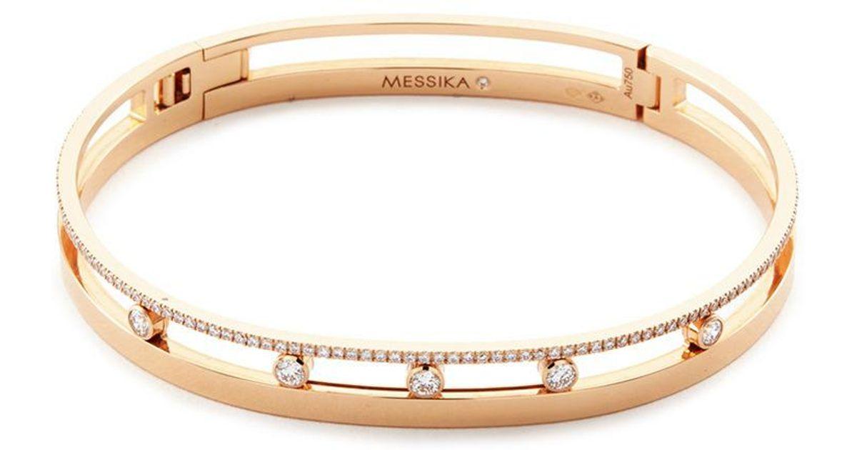 Messika Move Romane 18K Rose Gold Bangle with Diamonds L1CAqfpb