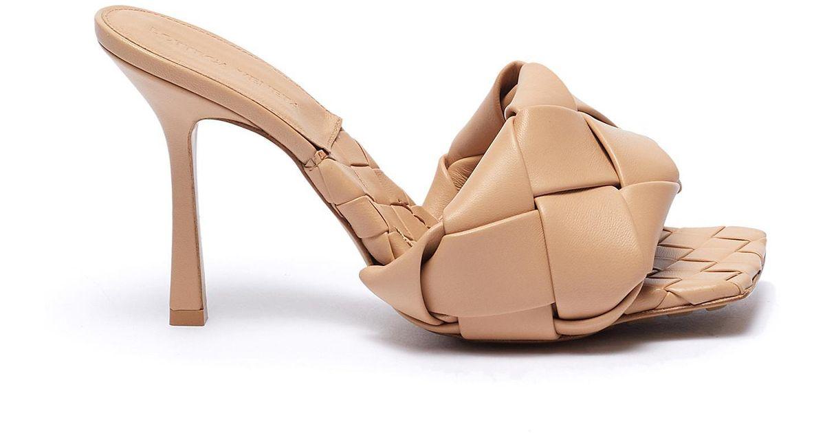 Bottega Veneta Bv Lido Intrecciato-woven Leather Mules In