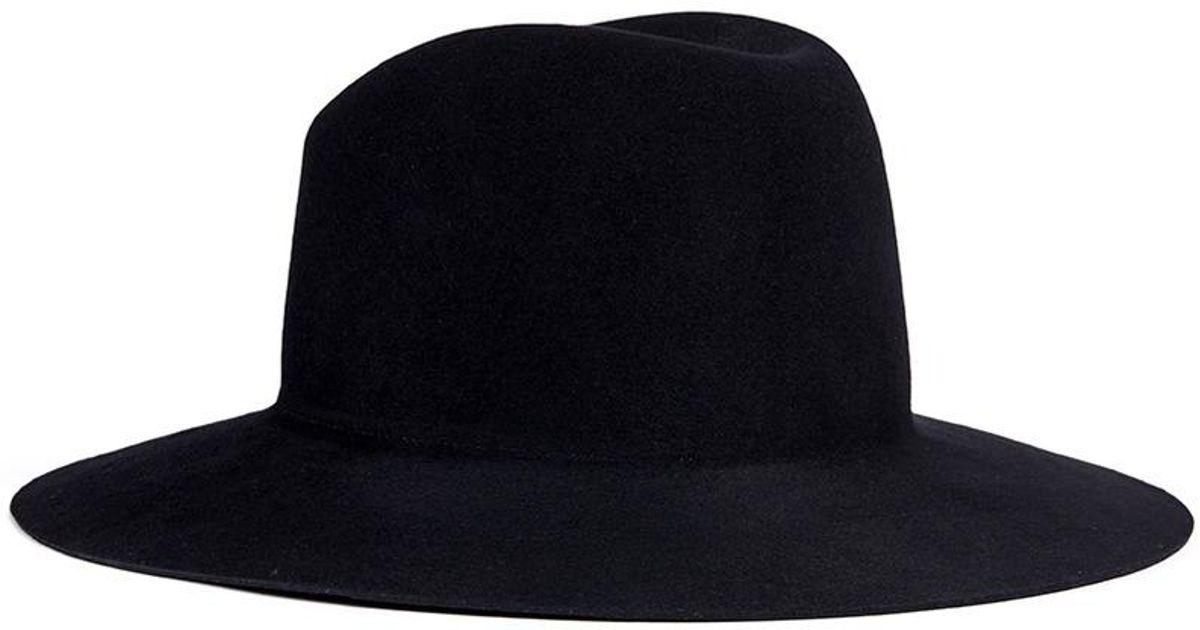 Lyst - Janessa Leone  trois  Wool Felt Fedora Hat in Black for Men 65982dafd2df