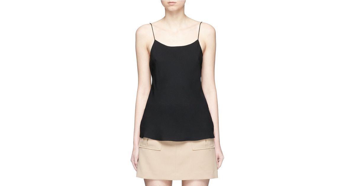5f8cf947d7c45e Lyst - Theory  teah  Silk Georgette Camisole in Black