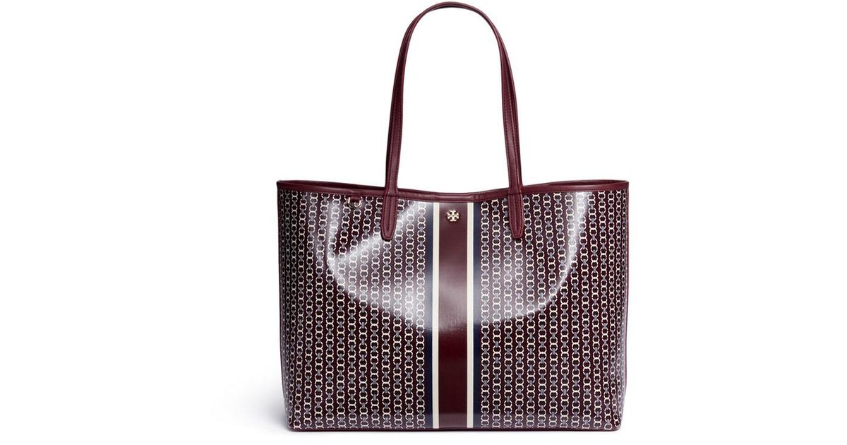 Givenchy Tassen Bijenkorf : Lyst tory burch gemini link coated canvas tote