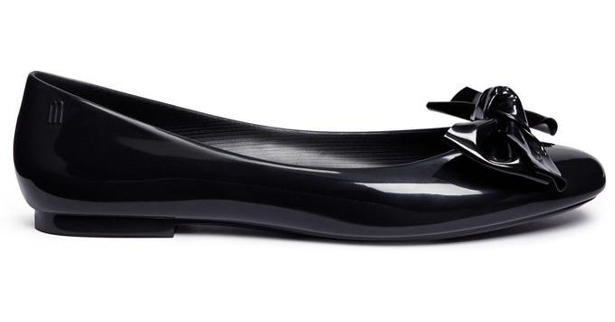 cffedb3f530 Lyst - Melissa  doll Fem Ii  Bow Pvc Ballerina Flats in Black