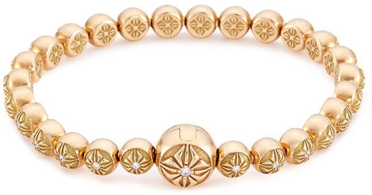 Bavna Baroque Pearl Stretch Bracelet w/ Pavé D9fgJ