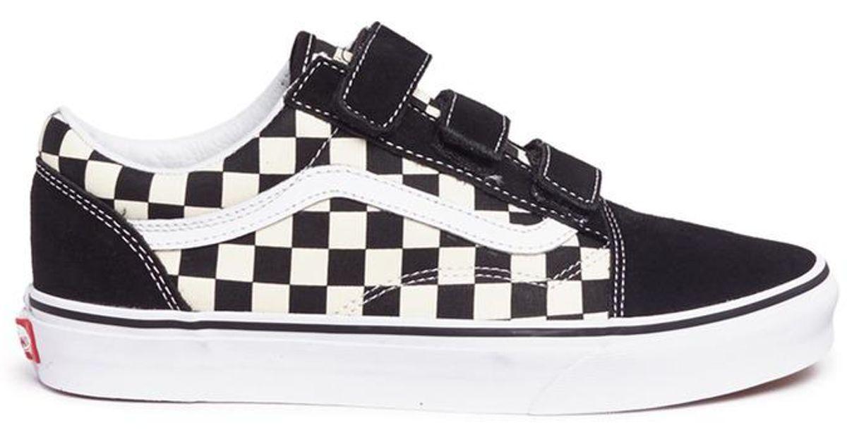 bc8df2846e Lyst - Vans  old Skool V  Checkerboard Print Canvas Sneakers