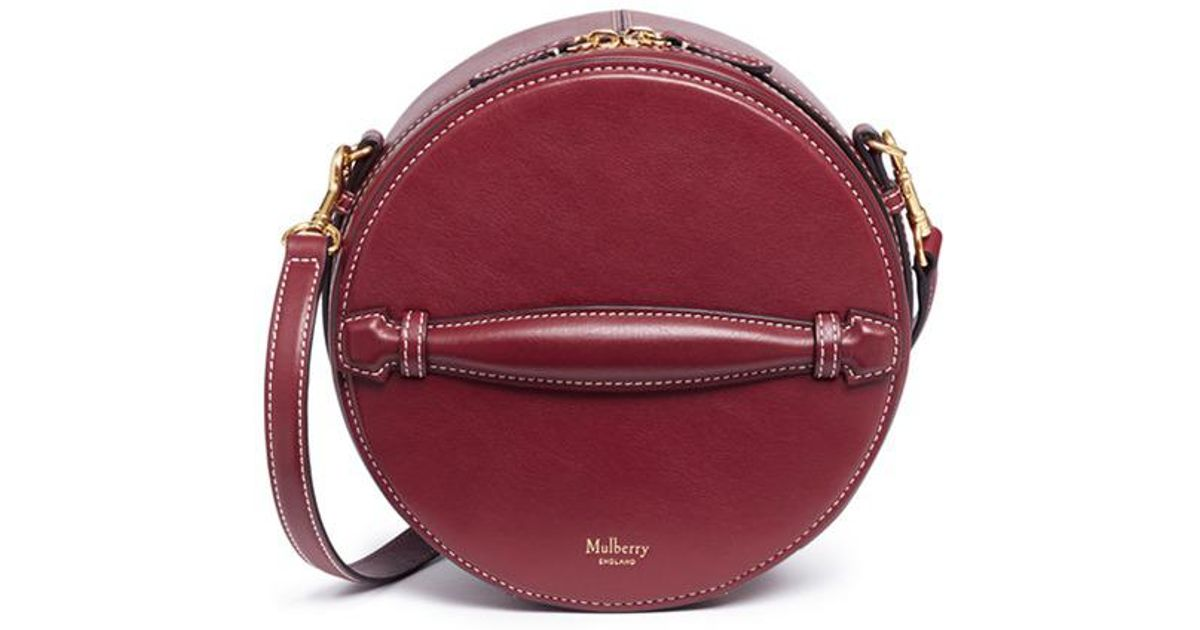 ee630047862c ... shoulder bag f7fc1 b4329 promo code for lyst mulberry trunk round  leather crossbody bag 337c8 8407e ...