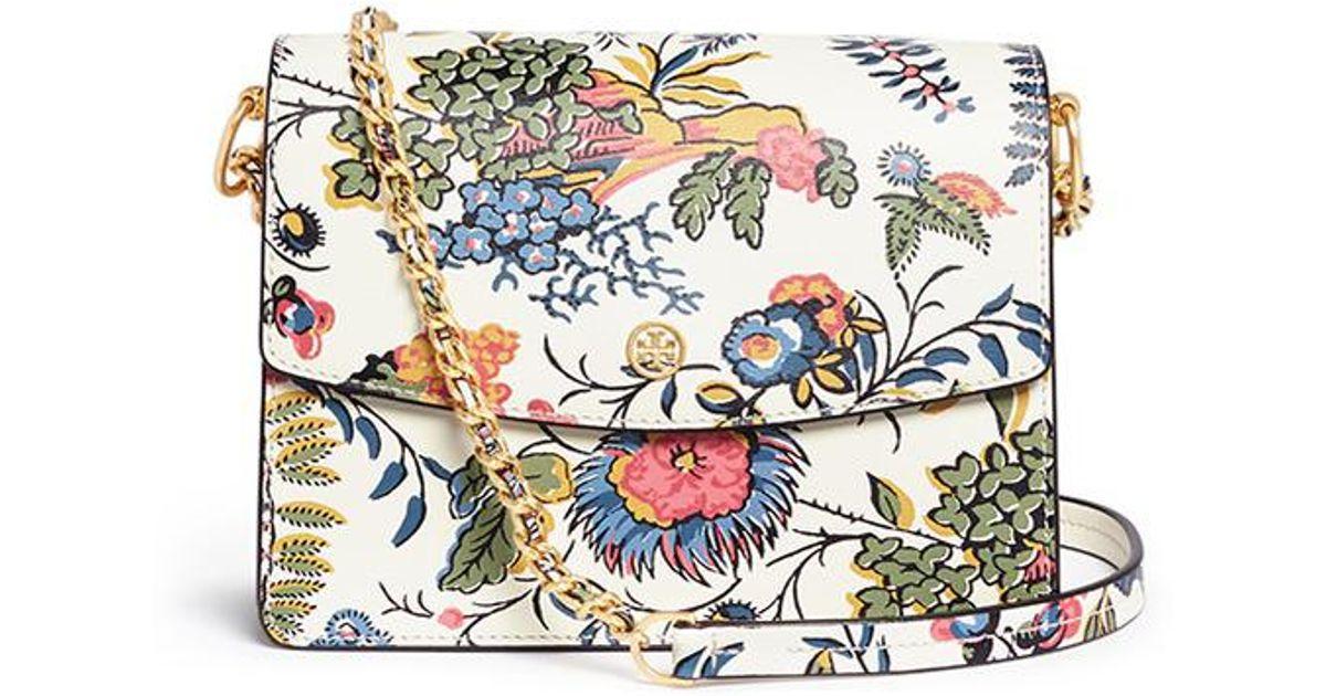 926c6dc3 Tory Burch Multicolor 'parker' Floral Print Leather Convertible Shoulder Bag