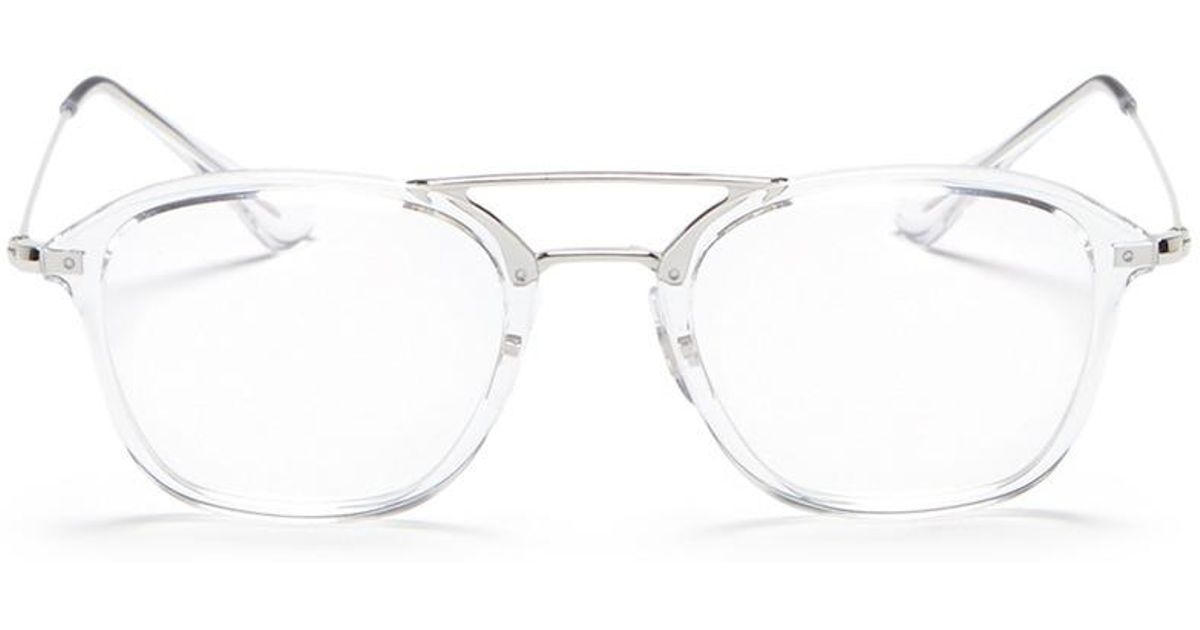 Lyst - Ray-Ban \'rx7098\' Square Optical Glasses in White