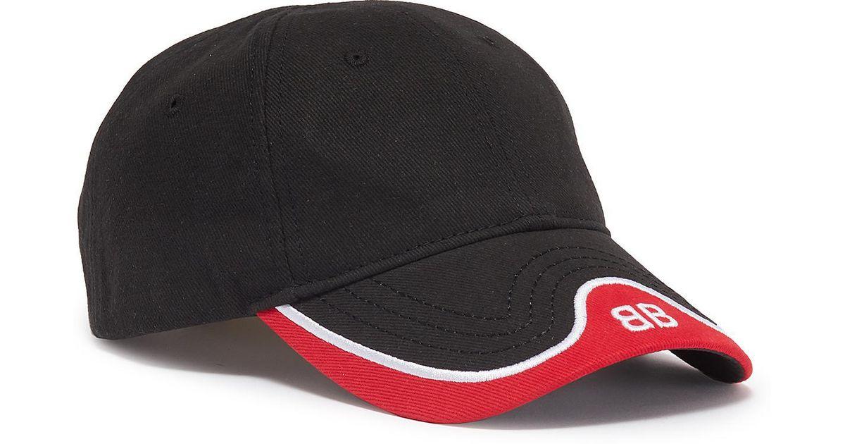 0b5a3def05a Lyst - Balenciaga  bb Mode  Logo Embroidered Visor Baseball Cap in Black