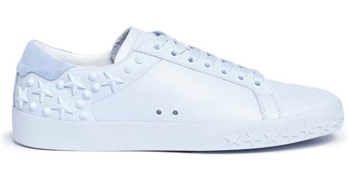 Ash Brand Women/'s Dazed Stars /& Studs Leather Shoes Sneakers White Silver New