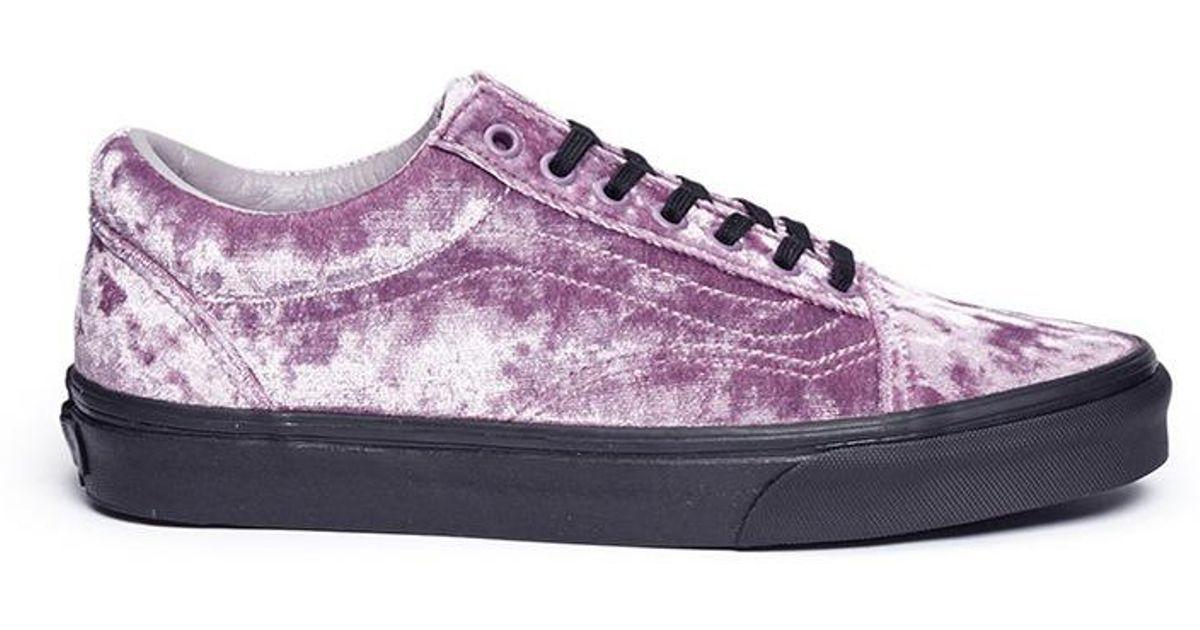 7a90e8865508 Vans  old Skool  Velvet Flatform Unisex Sneakers in Purple - Lyst