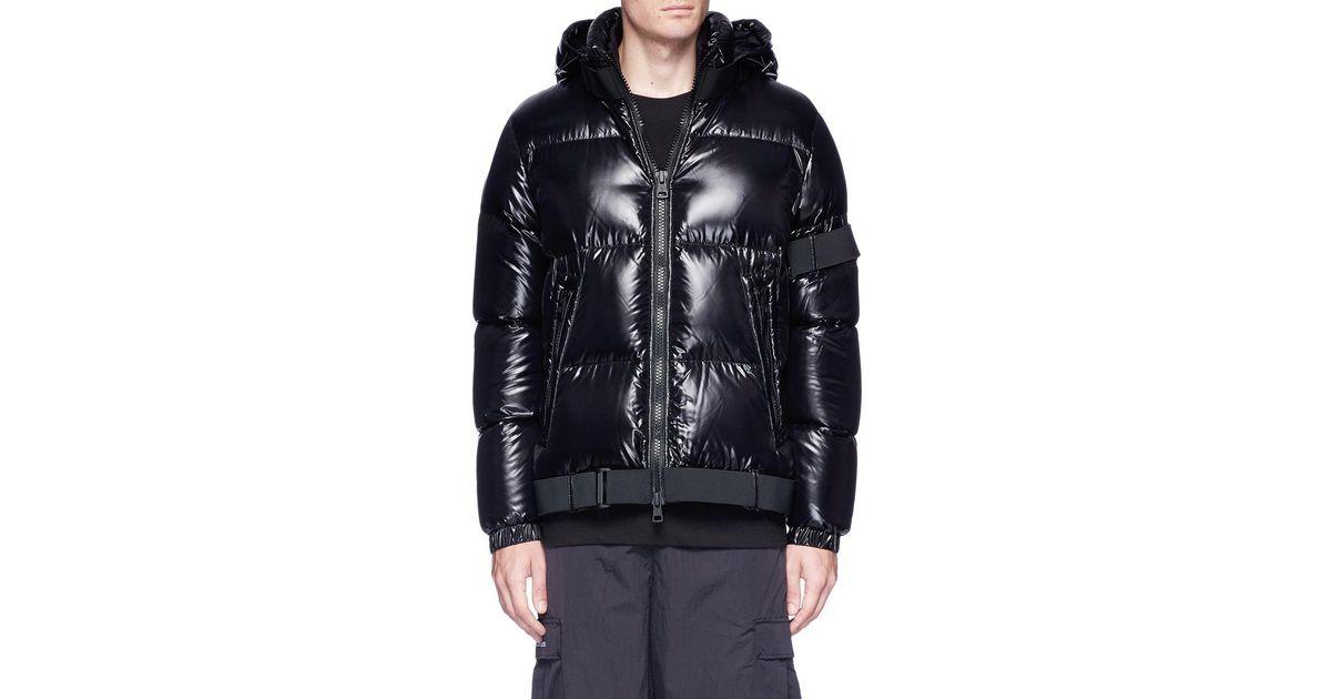 23bb16173 Moncler Black X Craig Green 'brook' Buckle Strap Down Puffer Jacket for men