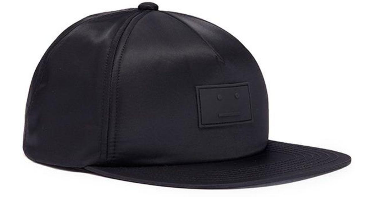 c4de797678c Acne Studios  covia Face  Patch Baseball Cap in Black for Men - Lyst