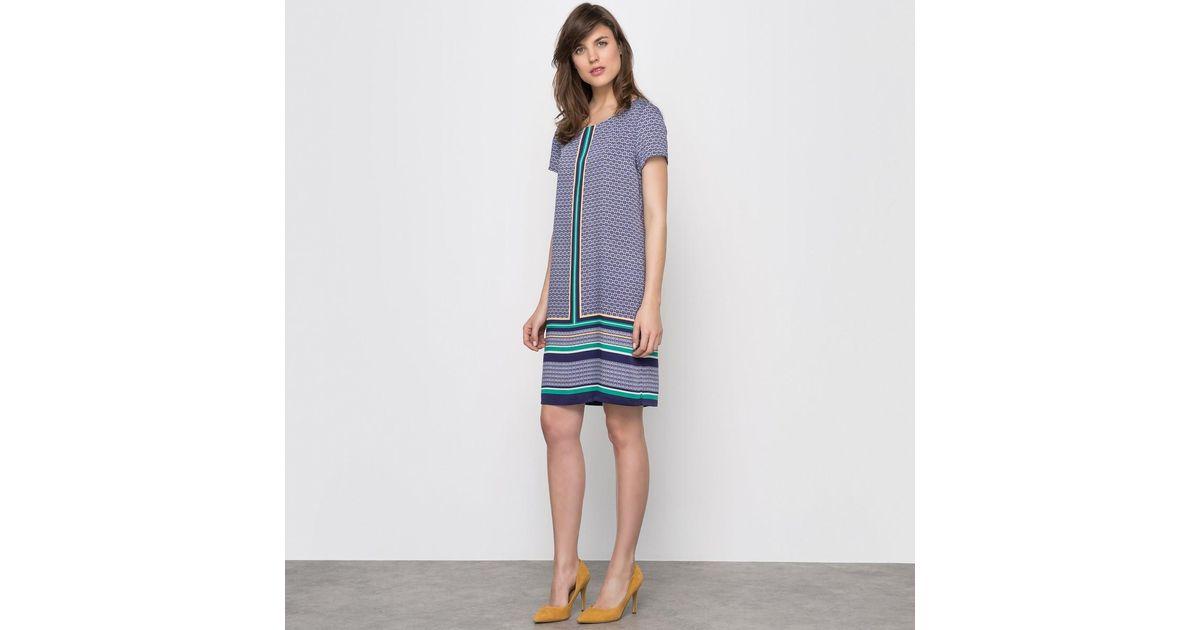 la redoute robe housse imprim 233 e manches courtes in blue lyst