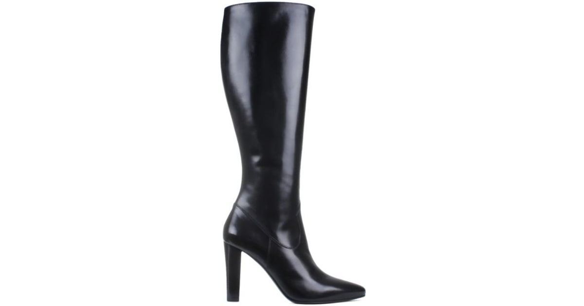 Saint Laurent Knee boots Lily 95 suede frays vC9H4kAm8