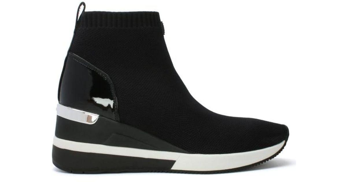 Michael Kors Skyler Black Sock Wedge