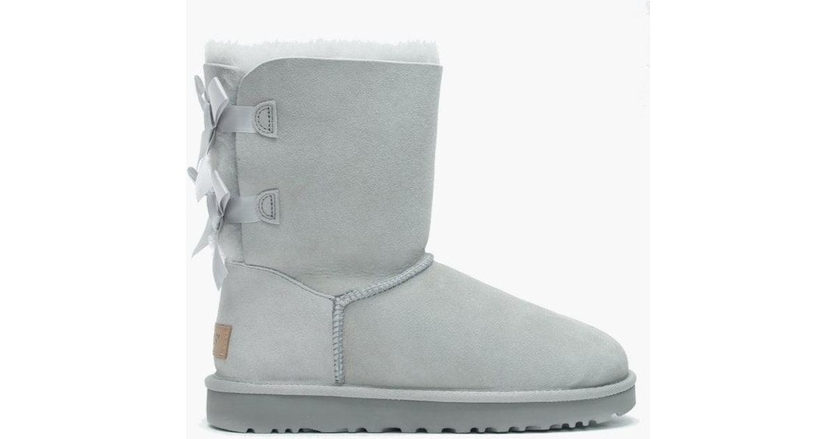 ae0d9d5ed6a Ugg Gray Bailey Bow Ii Grey Violet Twinface Boots