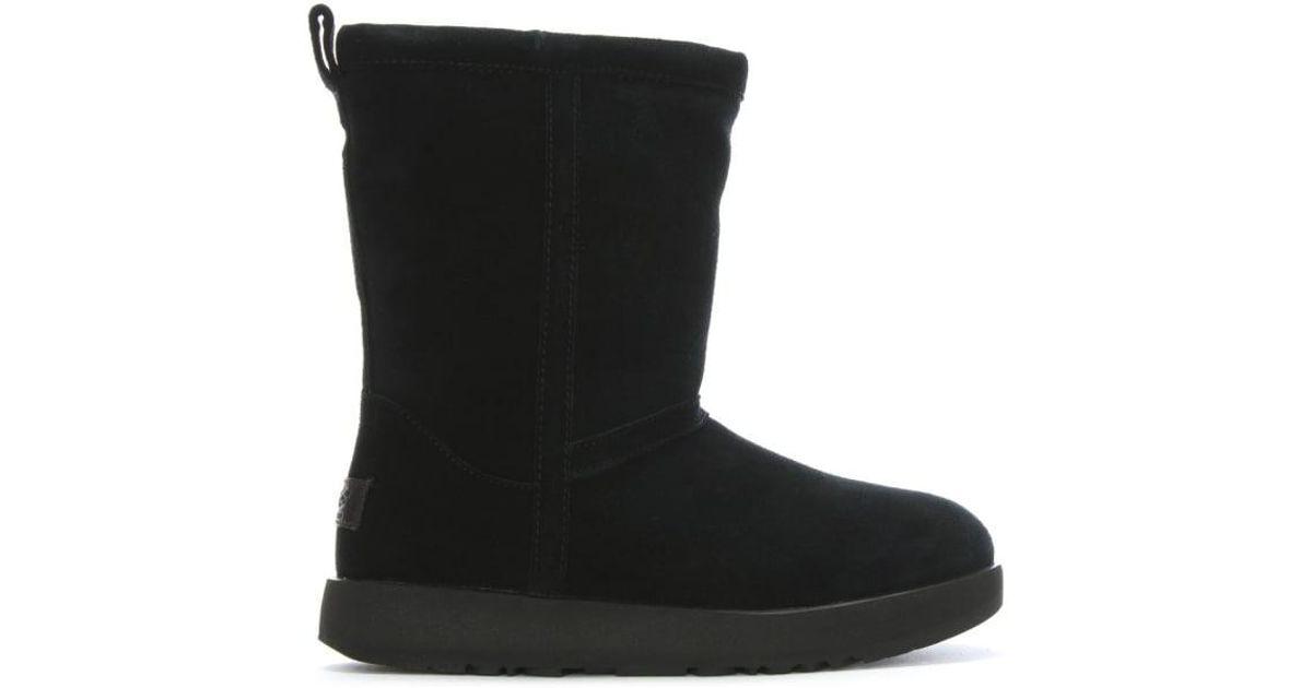de471b0d881 Ugg - Classic Short Black Suede Waterproof Ankle Boots - Lyst