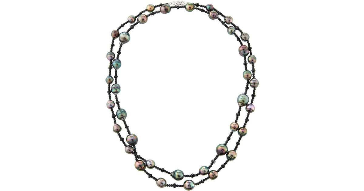 Belpearl 14k Tahitian Pearl & Spinel Necklace RCSY7rjns9