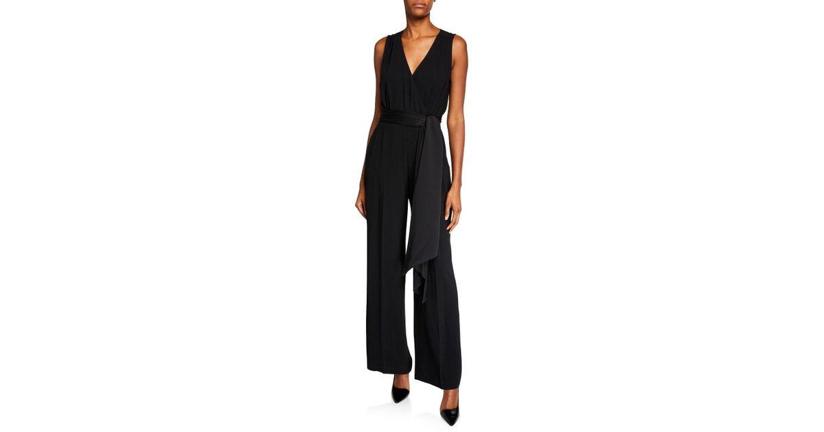 2041f8c5dd46 Lyst - Trina Turk Tigerlily Sash-tie Wide-leg Jumpsuit in Black