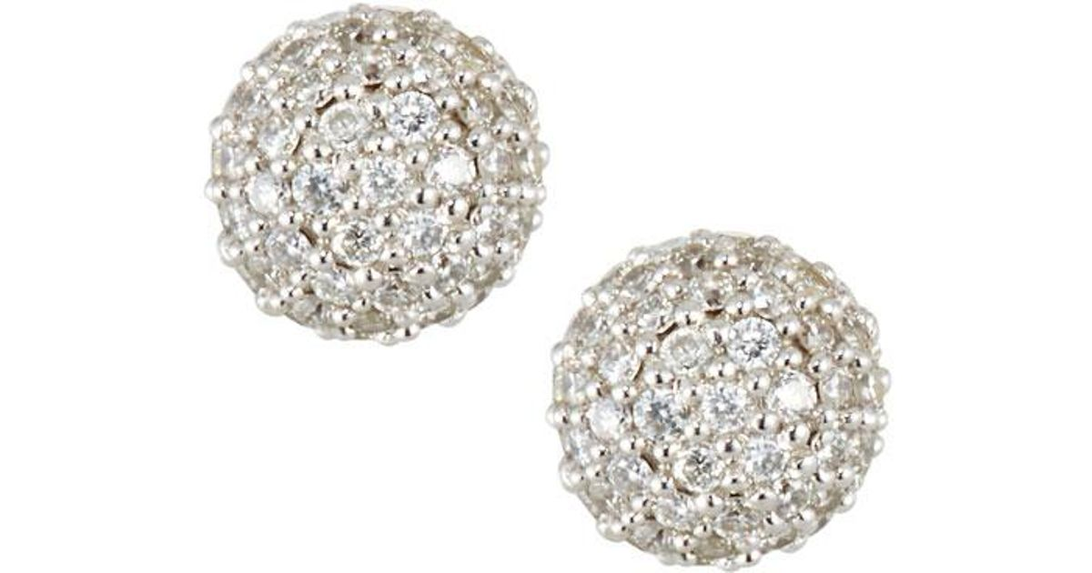 4697f44773ecc Ippolita Metallic 18k Gold Stardust 6mm Round Stud Earrings With Diamonds