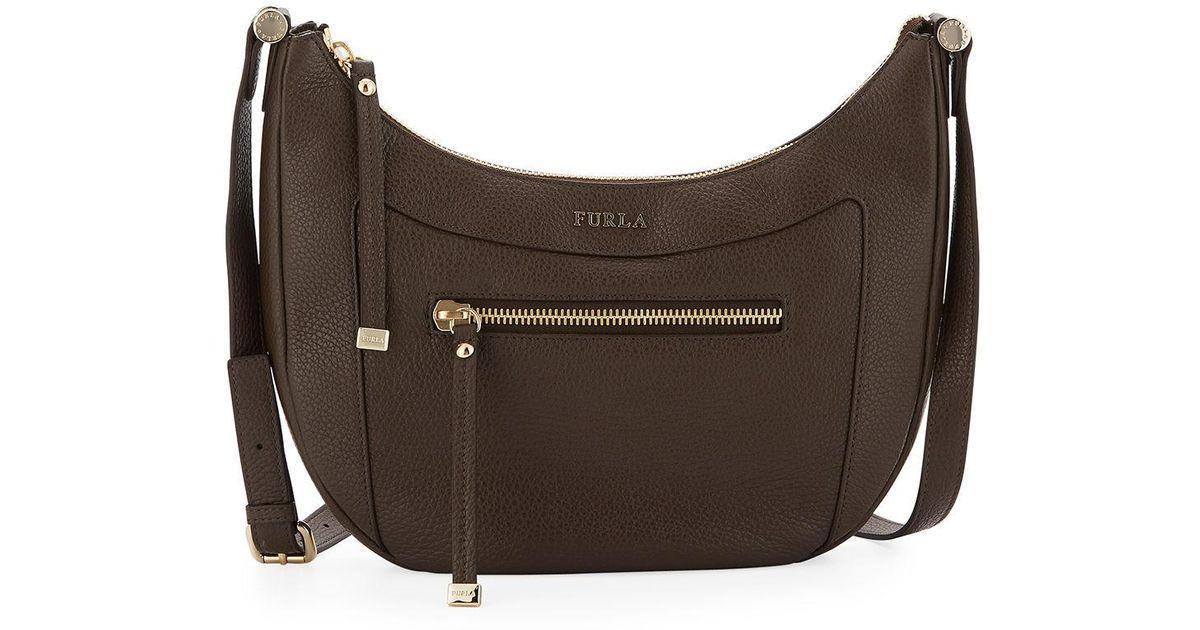 ddaa2173f897 Lyst - Furla Ginevra Leather Crossbody Bag in Brown