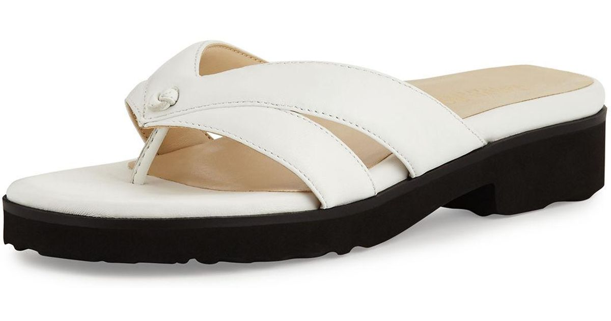 d469a86e4b42 Lyst - Taryn Rose Tacy Patent Leather Sandal in White