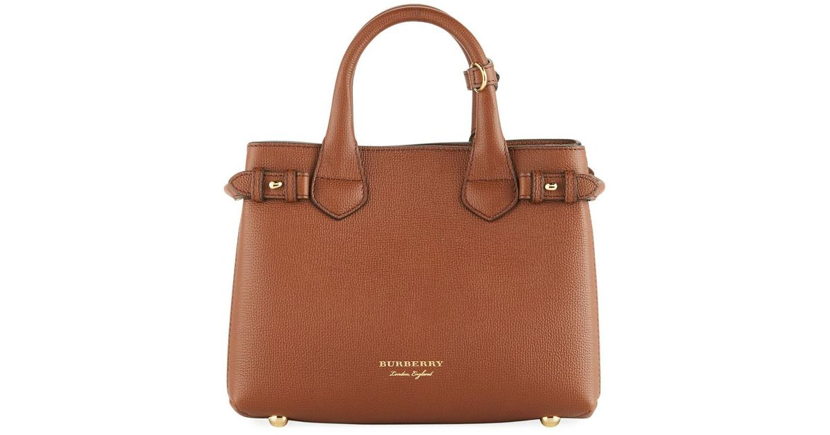 ff2ca13123c2 Lyst - Burberry Banner House Check Derby Tote Bag Tan in Brown