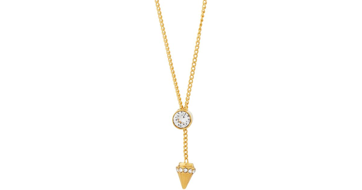 Vita Fede Marquise 24k Gold-Dipped Crystal Choker Necklace, White