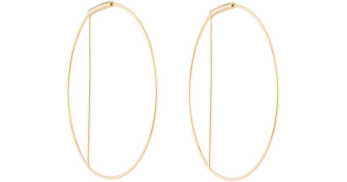 Lana Jewelry Eclipse 14k Gold Wire Hoop