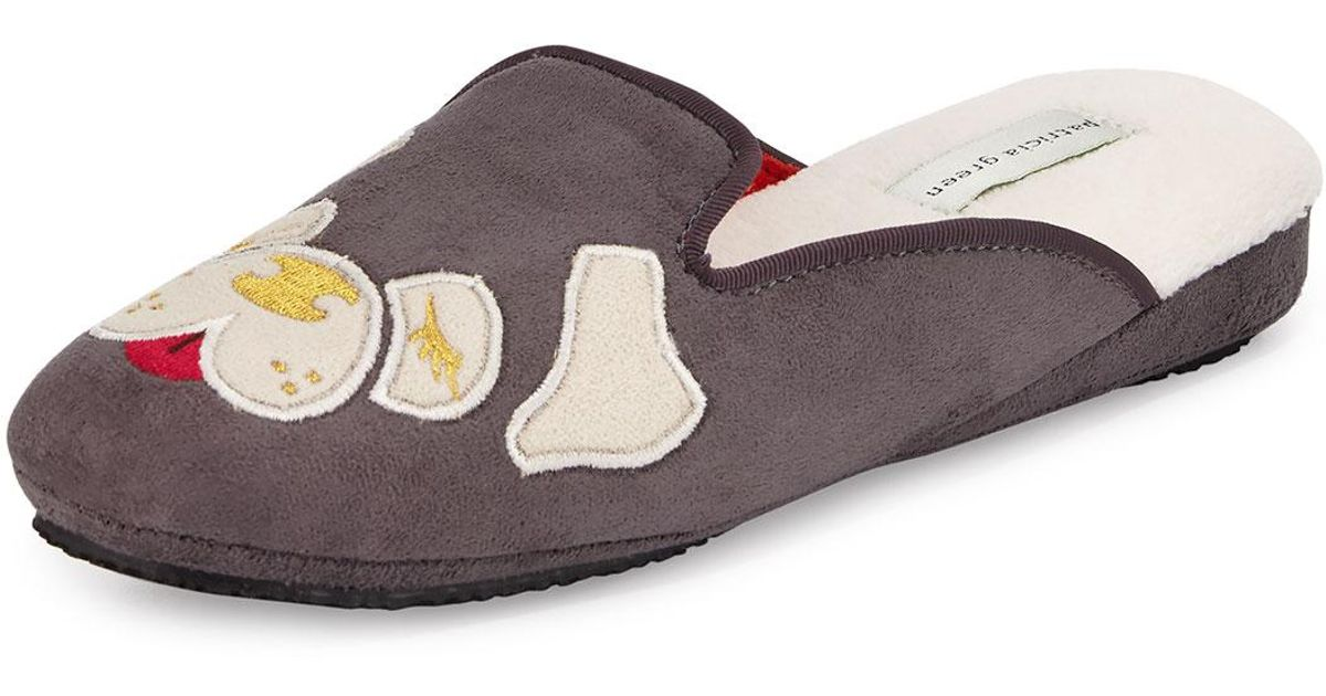 69af8c865d8 Lyst - Patricia Green Pug Dog Microsuede  174  Slipper in Gray