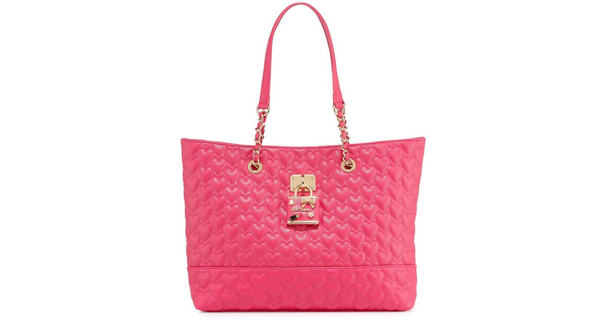 betsey johnson be my baby quilted tote bag lyst