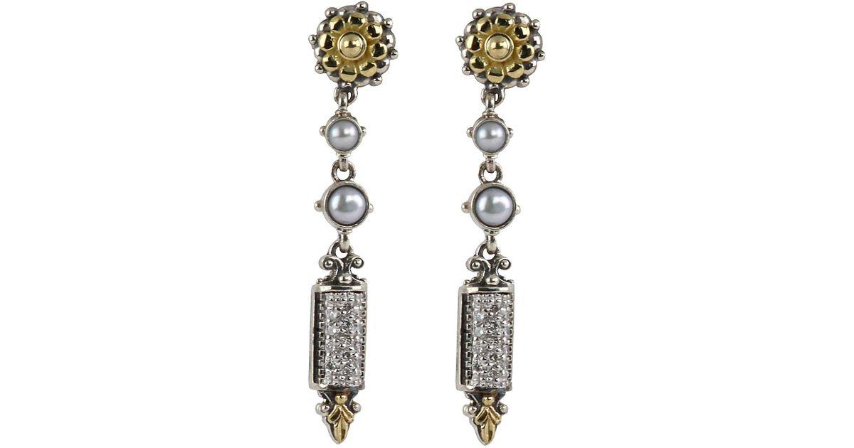 Konstantino Asteri Etched Onyx & Diamond Dangle Earrings GcjVswLsM