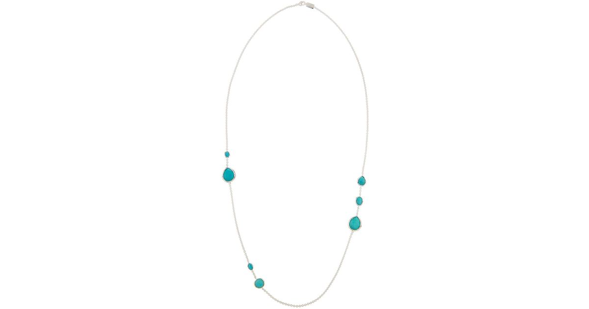 Ippolita Rock Candy Gelato Layering Necklace in Turquoise, 33