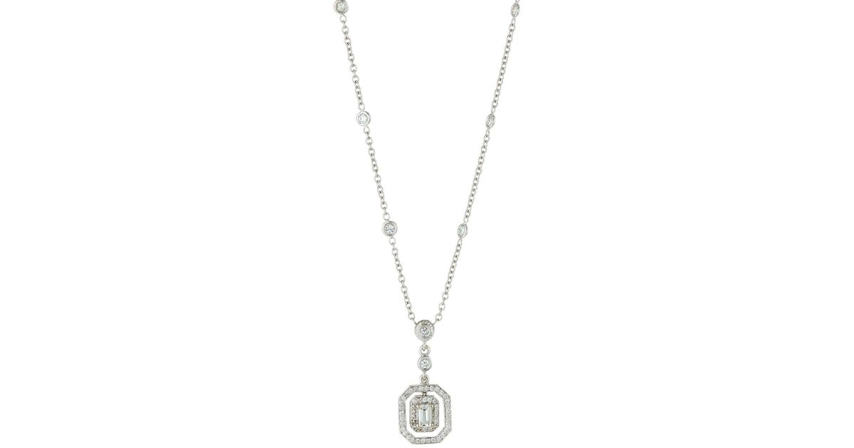 in solitaire necklace cut wg ct pendant white gold jewelry nl platinum emerald