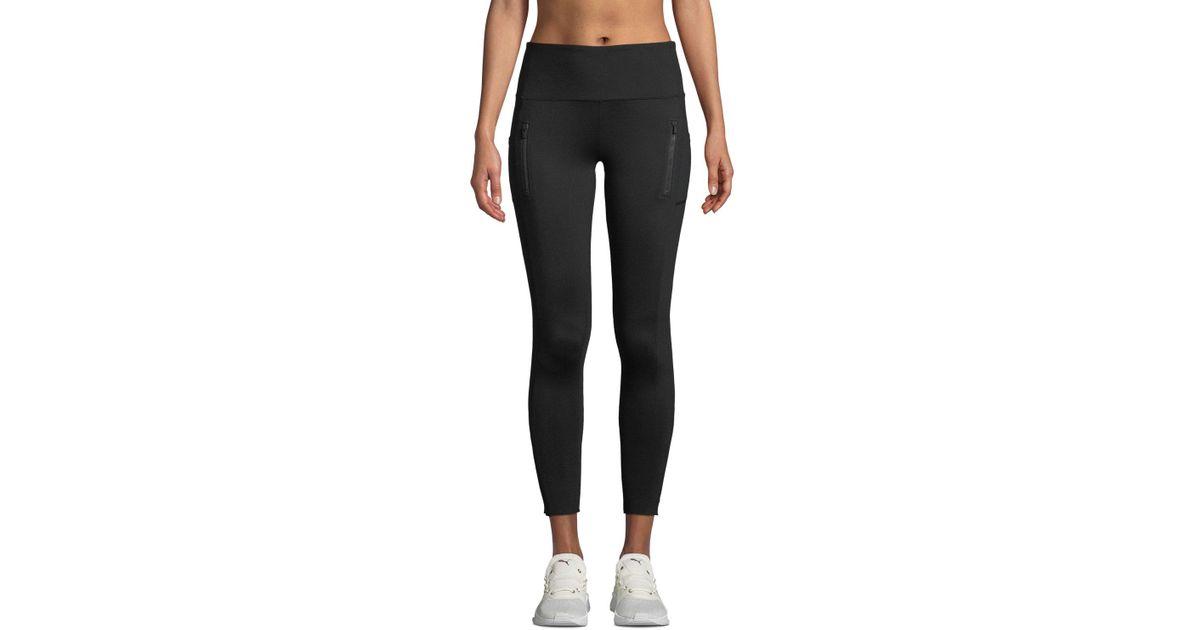 fe37c2dd7f X By Gottex Zip Pocket High-waist Cropped Leggings in Black - Lyst