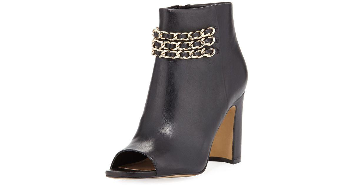 1a73b666e73 Karl Lagerfeld Black Elora Open-toe Chain Bootie