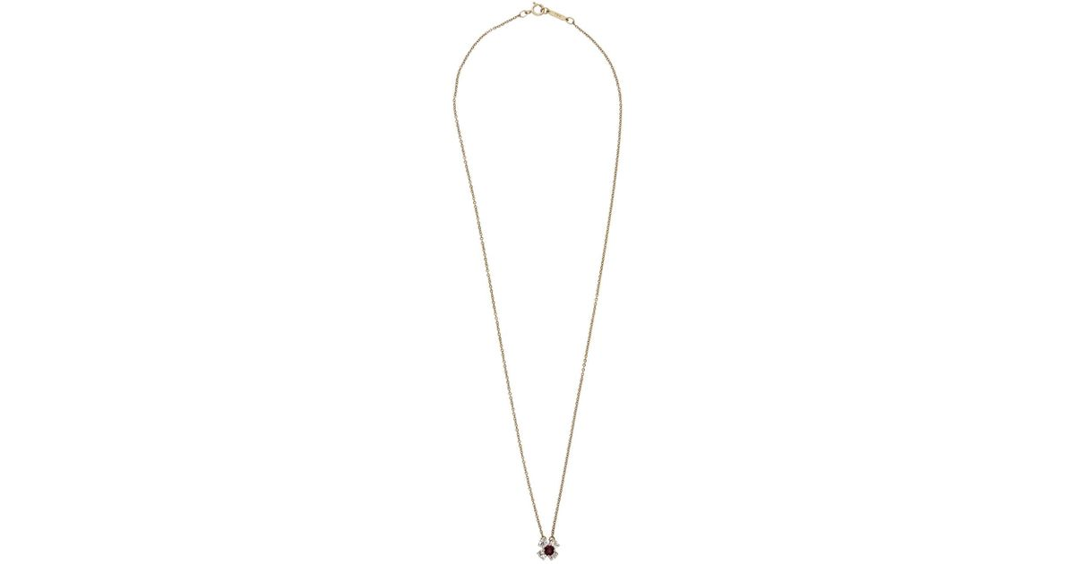 bdace973c04ab Tiffany & Co Red 18k Diamond & Ruby Pendant Necklace
