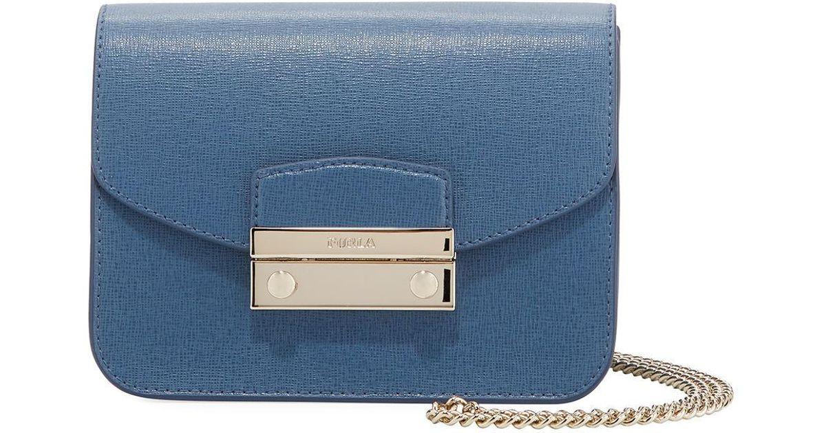 69dd6ffa5f74 Lyst - Furla Julia Mini Top Handle Crossbody Bag in Blue