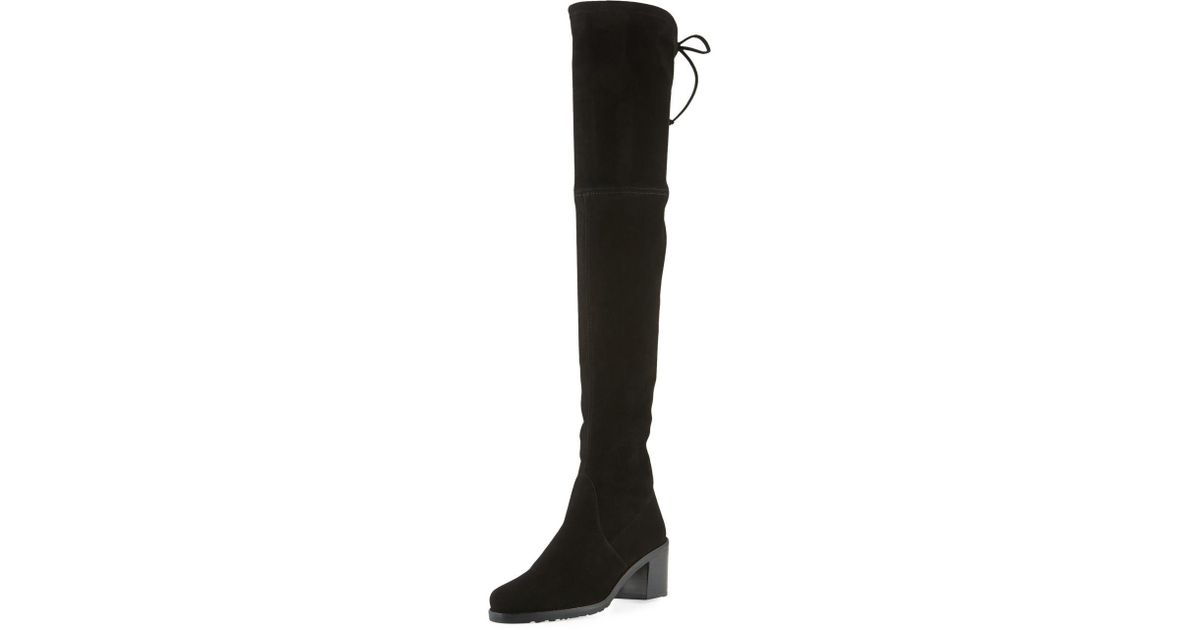 9ad972dfaf4 Lyst - Stuart Weitzman Elevated Stretch Over-the-knee Boots in Black