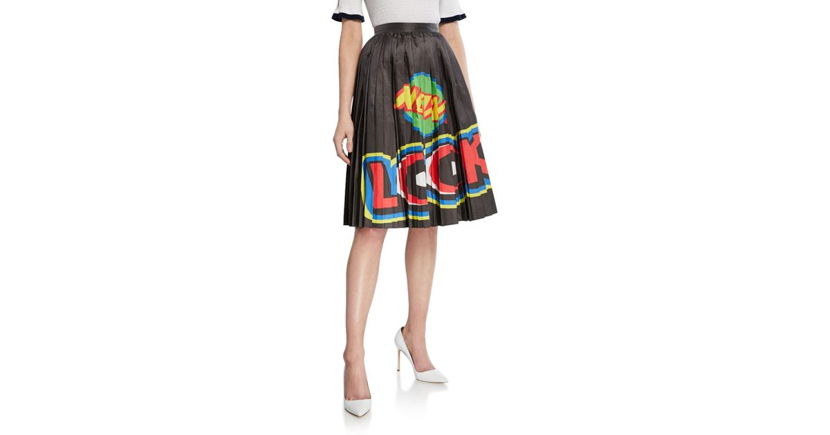 New Look Go Glitter Pleated Midi Skirt Gonna Donna